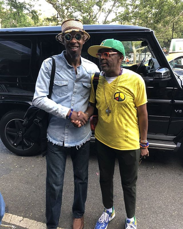 It was such an honour to work with Spike Lee yesterday on #shesgottahaveit. Probably the closest I'll ever get to working with Godard or Fellini. A master cinema auteur at the height of his power.