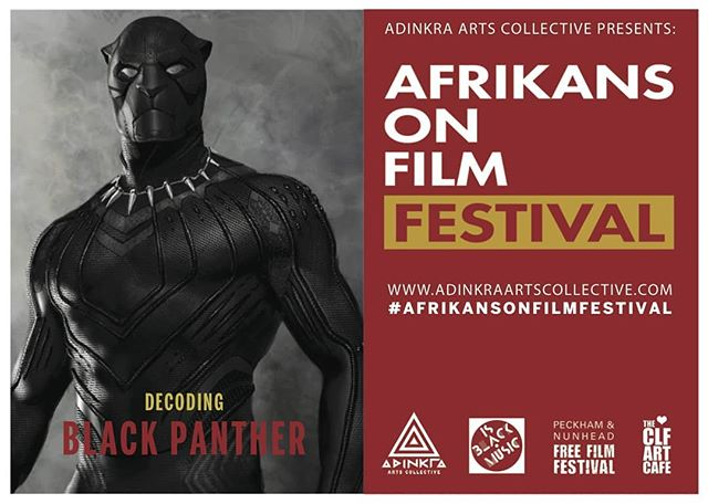 Hey friends! Come to this film festival I am curating.  Free African Film Festival at the Bussey Building,133 Rye Lane SE15 4ST  Saturday 8 September, 1–8pm  Afrikans on Film festival / #afrikansonfilm is back for 2018 with another mutatu-load of films from the African continent and her diasporan family: free entry all day!  It's a unique opportunity to view documentaries and shorts rarely seen on the big screen, taking viewers into the realms of sci-fi, reparations and smart-phone cinematography. We will also screen 2018 blockbuster Black Panther, which we plan to interrogate and decode with the help of BBC Radio 3's Kevin Legendre.  With a live kora performance by Tunde Jegede plus eye- and mouth-watering authentic cuisine, all roads, streams and rivers must lead to #afrikansonfilm.  See you there, brothas and sistas. The Afrofuture begins here.  #afrikansonfilm#instaafrica #blackculture#blackpower#blackisbeautiful#blackcinema#WhatBlackPantherMeansToMe