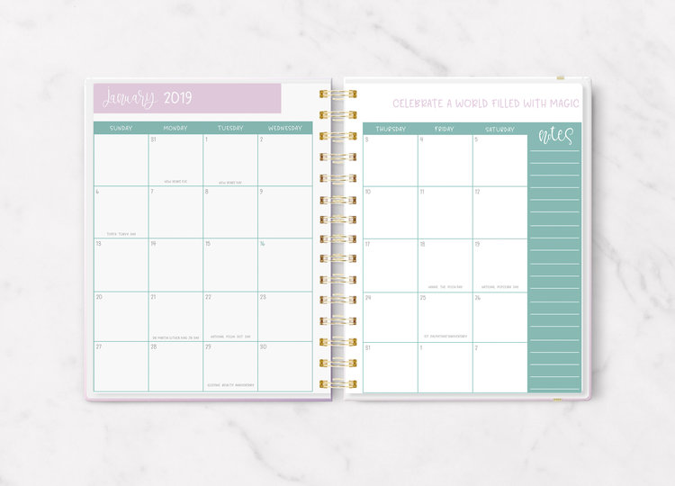 Monthly view in the  Plan The Magic  planner.
