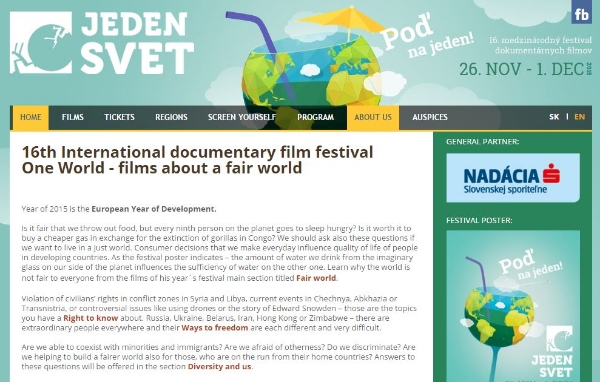 (Image: Screenshot of The One World festival website)