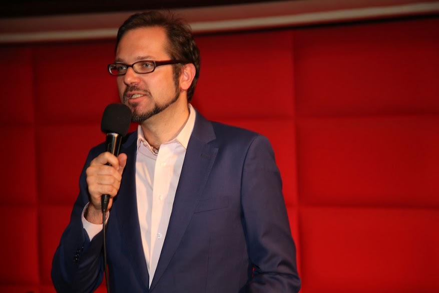 "Florian Godovits, founder of ""China Quo vadis"", host of the event. (Image: Florian Godovits)"