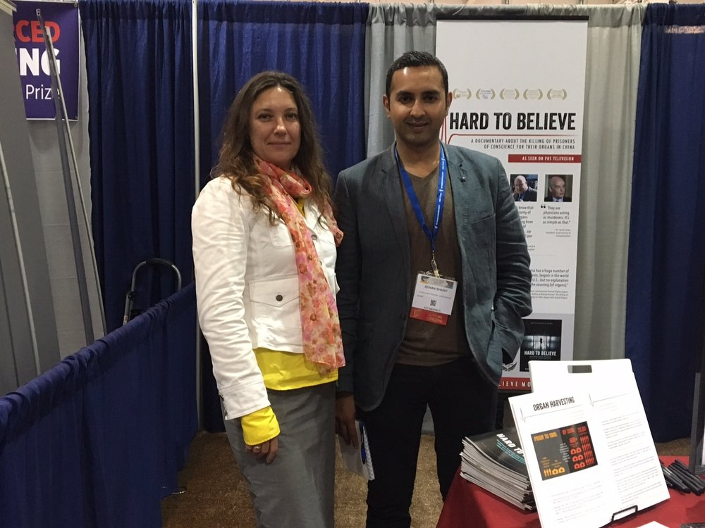 Adnan Sharif and Yulia Felton at the Hard To Believe booth the 2016 ATC, Boston.