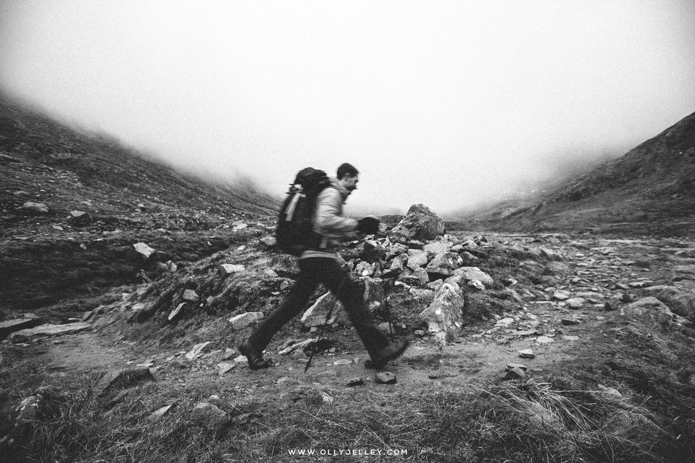One of my best friends, and mad honorary scotsman (he's a welsh german in reality... I think?) Zeemon, off onto the 'wee hill' that is Ben Nevis, BTS from a wintery shoot a couple of years back. I'm sure he'll be featuring heavily soon...
