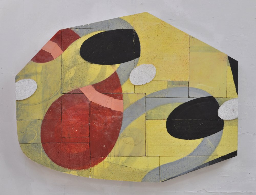 9 Painting with Black Ellipses 2009 Acrylic and pasted paper on polystyrene 81x104cm.JPG