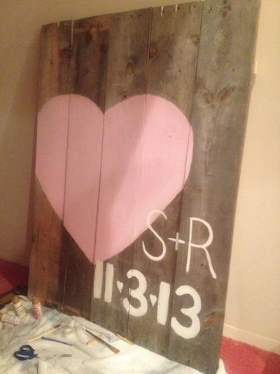 diy-wedding-sign-with-date