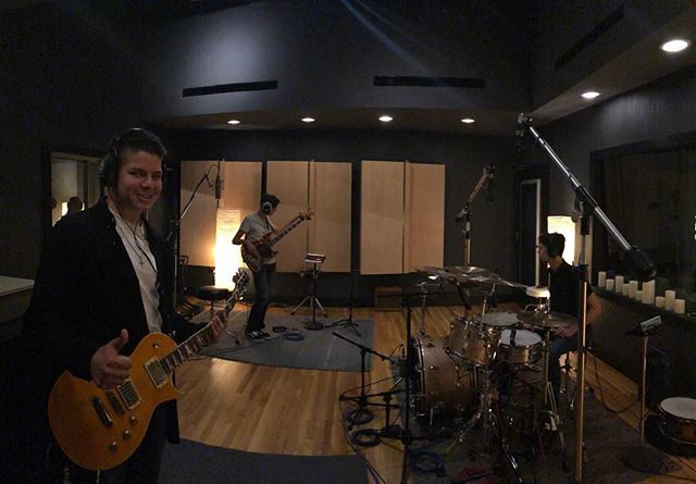 Thursday we recorded two singles for our upcoming album at @lakehousemusic with @connorhanson_music !! We can't wait to show you guys our first two singles!!