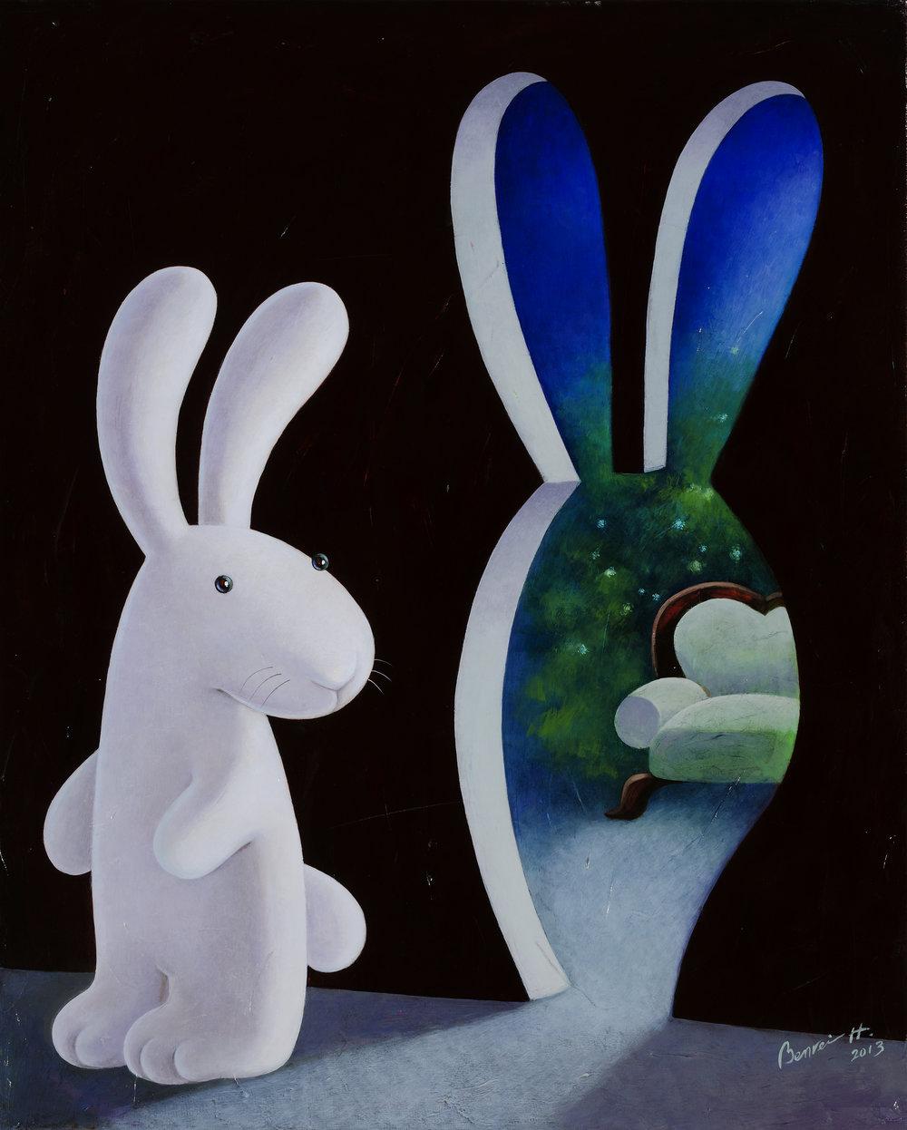 This way to bunny lounge 貴賓室專用入口