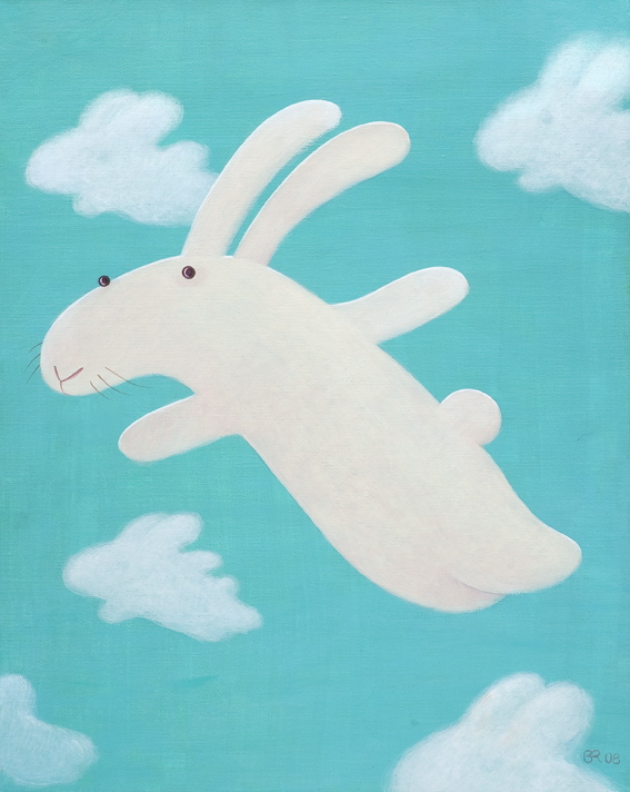 Flat bunny flies 扁兔要飛