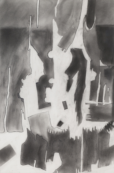 """SHINGLES II   Graphite Pencil and Powder on Paper.  12"""" x 18"""" FRAMED   $325     Back to Gallery"""