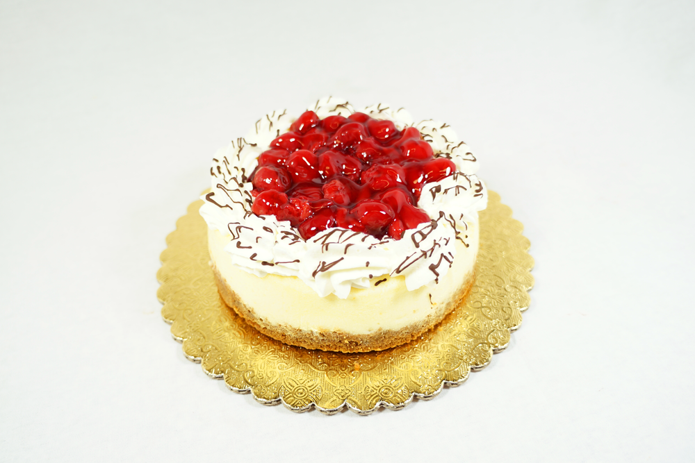 Cherry Cheesecake - Graham cracker crust with cherry topping.