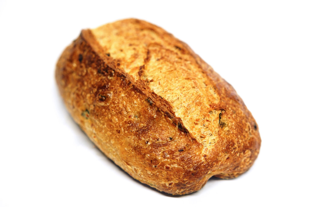 Jalapeno and Cheese - The peppers and swiss cheese gives this bread a provocative and spicy flavor.*Friday and Saturday