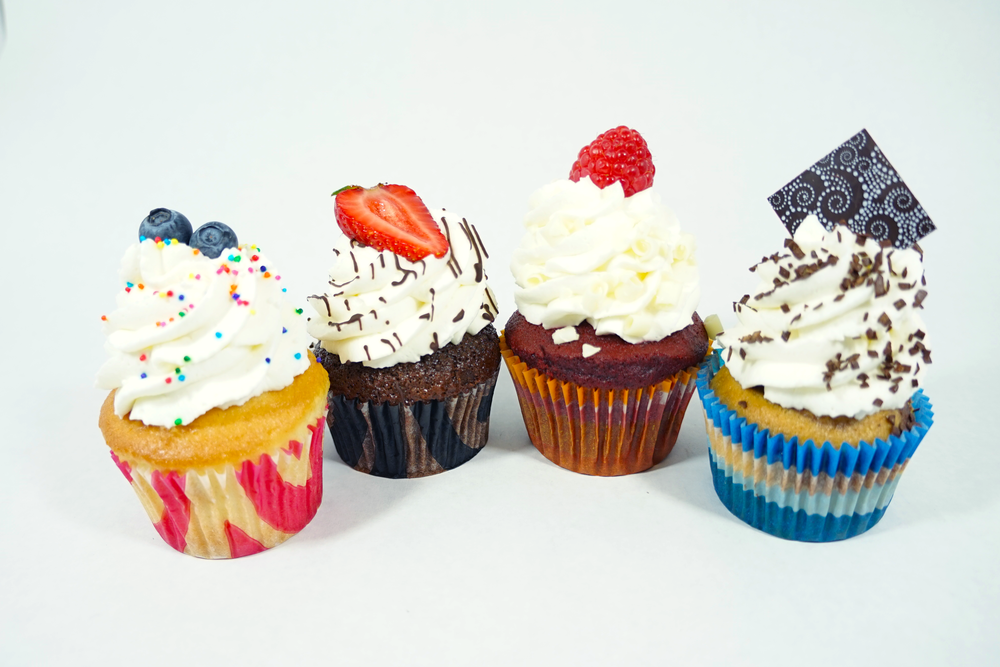 Cupcake - Vanilla, Chocolate, Red Velvet, or Marble