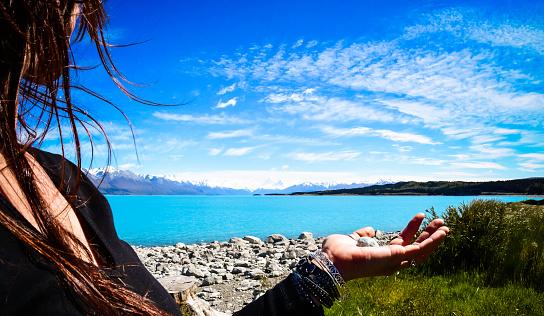 Women focusing on spiritual wellness