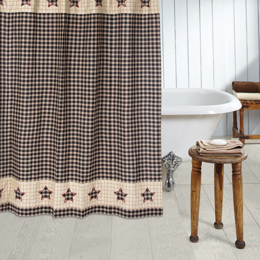 VHC 5931 Bingham Star Shower Curtain 72x72