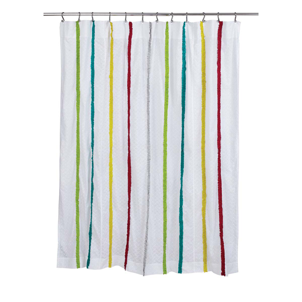 Everly Shower Curtain Wooden Treasures