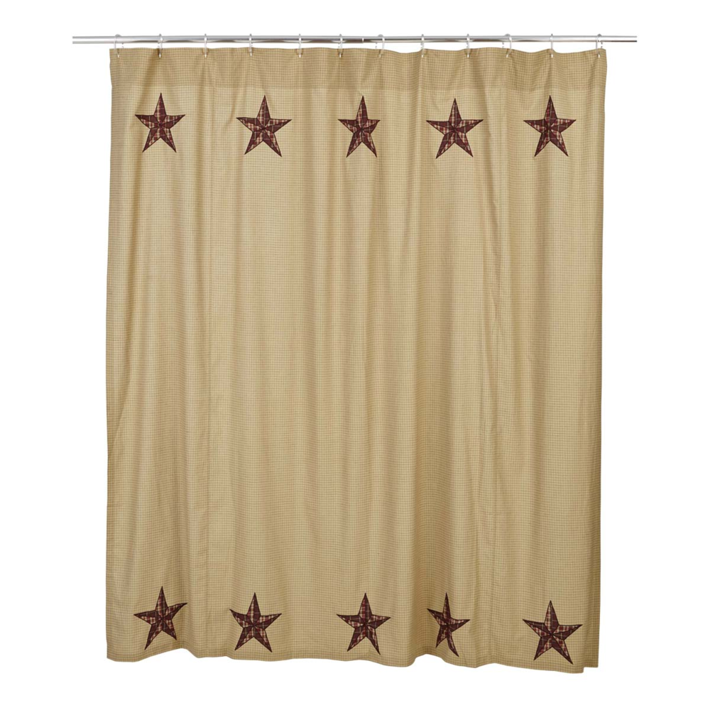 Landon Stars Shower Curtain Wooden Treasures