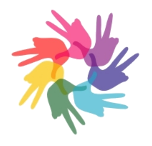 Nonviolence training hub hands and peace sign-large and blurry.png
