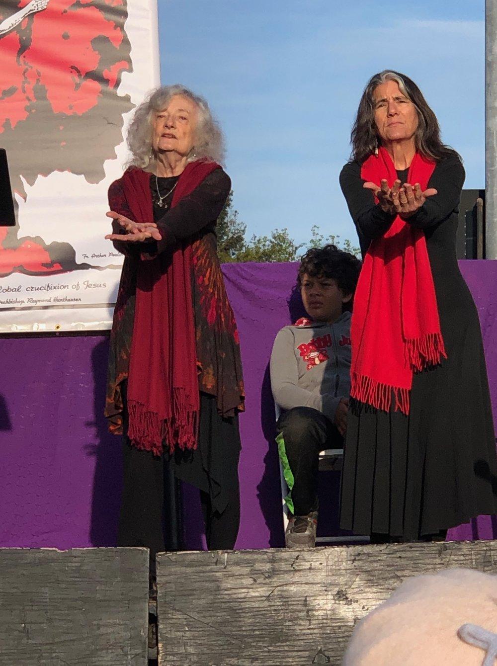 Sacred movement led by Carla De Sola & Kathleen Robbiano