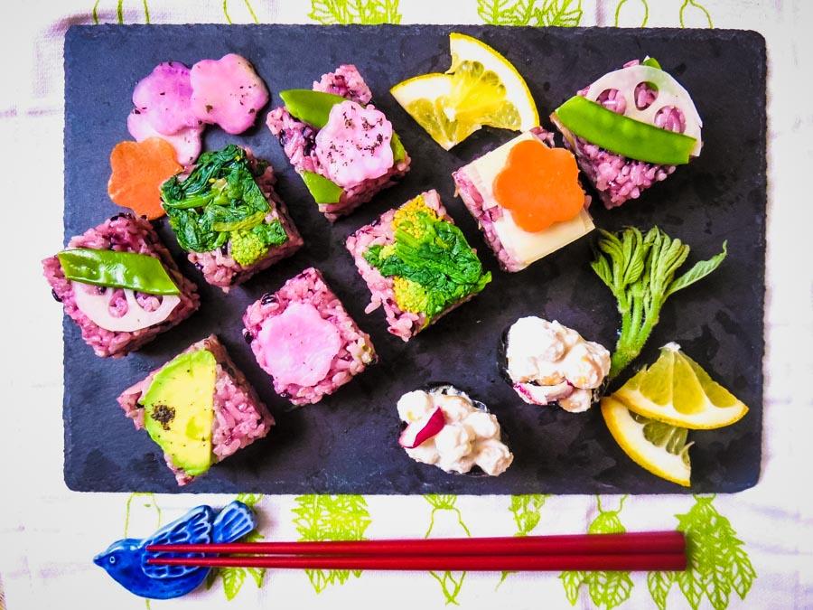 bentoyacooking events March16 Veggie Sushi Workshop in Tokyo Photo by Keiko Sensei.jpg
