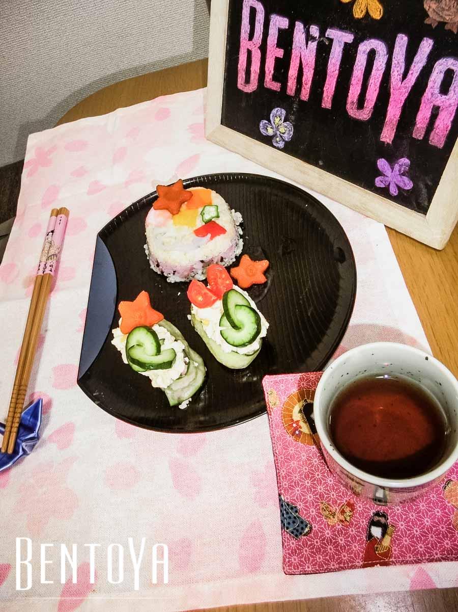 Vegan Cake and Roll Sushi and Tempura.jpg