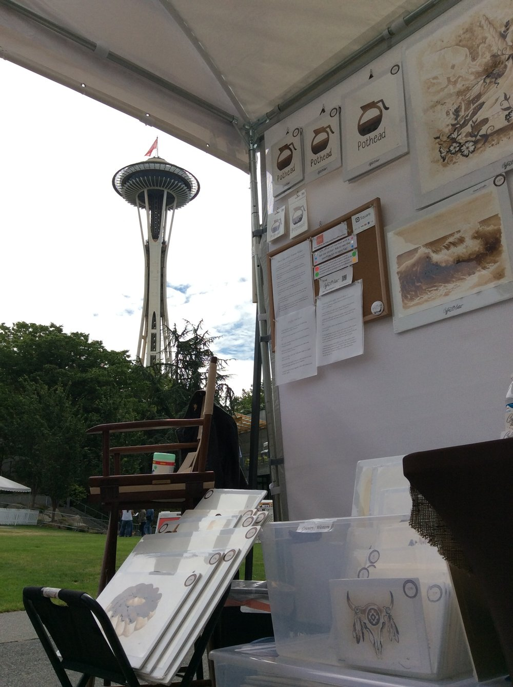 I'm right by the Space Needle at the 2018 Bite of Seattle