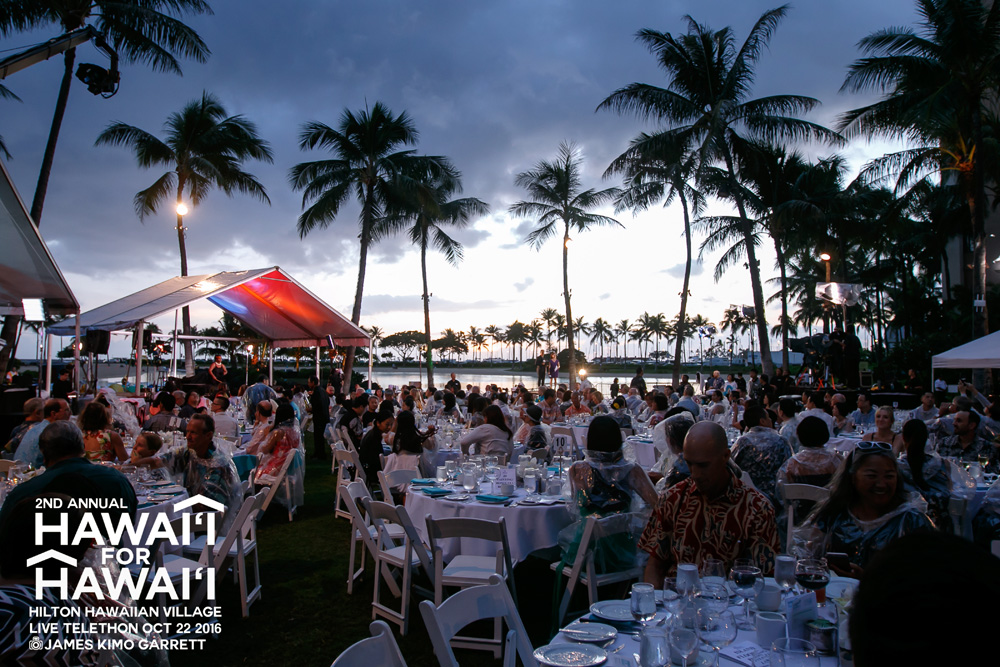 """HAWAI'I FOR HAWAI'I - OCTOBER 22ndA Fundraiser for the Homeless at the Hilton Hawaiian VillageThe second annual Hawaii for Hawaii concert featured entertainment by """"Henry Kapono & Friends"""" and raised almost 750,000.00. Hawaii News Now produced and promoted an inspiring live broadcast across its three network stations and online. Additionally, a celebrity telethon and live check presentations by generous contributors allowed national and local viewers to participate and donate live."""
