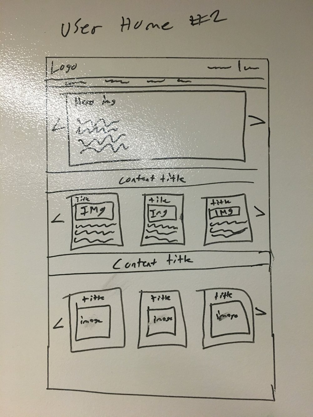 Sketch of User Home Feed #2