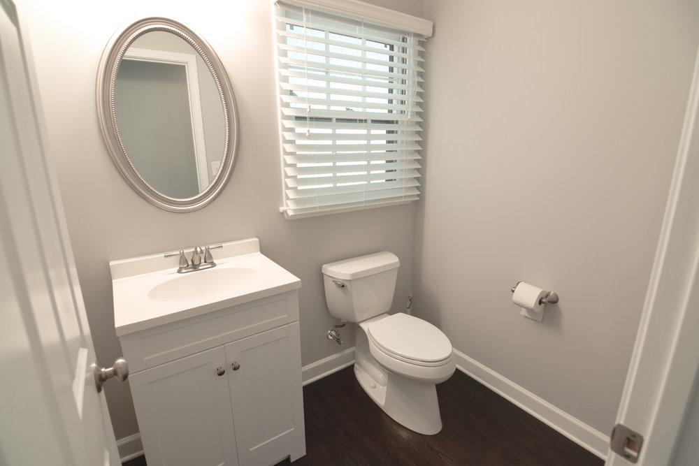 Monarch Homes | The House Next Door | Half Bathroom - After