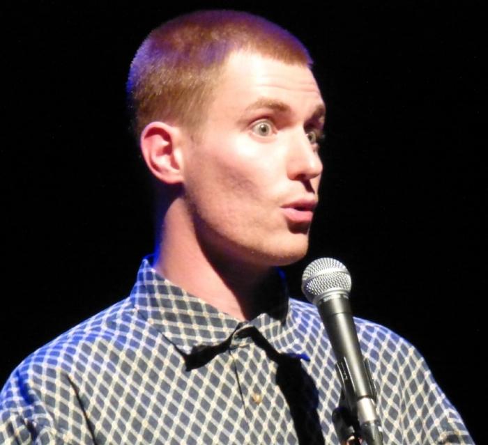 Chris White, Winner of the 2018 Exeter Poetry Slam