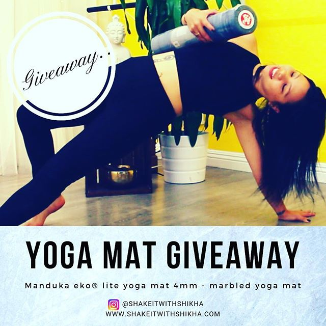 "It's officially Christmas week and I am in the spirit of giving .... I am giving away an eco- friendly marbled print natural rubber yoga mat from @mandukayoga . This post is not sponsored by Manduka whatsoever and is applicable only within United States . Nevertheless,  anyone who does not reside in US will get an automatic entry for the follow to my next giveaway which  is coming soon. I just love love love @mandukayoga  mats so I wanted to share good stuff . To enter :  1. Follow this account @shakeitwithshikha and like this post.  2. Comment below what are you grateful for ?  3. Tag 2 friends who loves yoga. If your friends follows this account, you will get an additional entry.  4. For 1 extra entry, follow @sapphiredancefit  5. For 2 extra entries, subscribe to my YouTube channel ""Shake it with Shikha"". Link on the bio . YouTube giveaway is also coming soon.  6. For additional entry, repost this post and tag @shakeitwithshikha  A random winner will be announced on Dec 27th on this account post and stories.  Thank you for participating and I am so grateful for all the love and support.  Merry Christmas to all of you . 🎄  Love and gratitude, Shikha . . . . #giveaway#repost#manduka #mandukayoga#yogamat#yogamatgiveaway #ekolite #christmas#holiday #happyholidays ##love#inspire#inspiration #entrepreneurlife #entrepreneurquotes# #motivation#livewithpassion #yogi#healer#reiki#livewithpurpose #manifest#highvibes#higherconsciousness#mindfulness#shakeitwithshikha #holidayspirit #holidaygiveaway #happiness#gratitude"