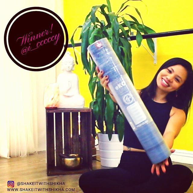 WINNER ANNOUNCED!!! We have a winner for the @mandukayoga yoga mat giveaway ....... 🥁🥁🥁🎶🎶🎶🥁🥁🥁 @i__cccccy you are the winner! Congratulations!!!!🎉🎈🍾 Thank you for all those who participated . I am so so so grateful for all of you .... more giveaways to come .....Stay tuned ! . . . #giveaway#winner#yoga#yogamat#manduka #mandukamat#yogalove#manifest#giveawaycontest #thankyou#grateful#yogi#yogaeverywhere #inspiration #reiki#healer#thankyou#highvibes#namaste#shakeitwithshikha