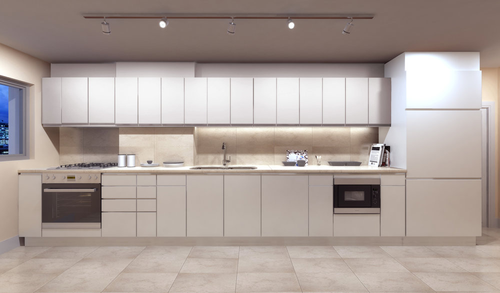 Finish package B kitchen - applied