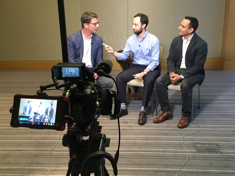 Solidus Labs CEO, Asaf Meir (middle), and CTO, Praveen Kumar (right) interviewed by Security Token Academy.