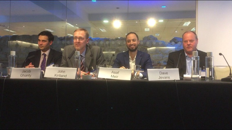 Solidus CEO Asaf Meir during a panel on the tech challenges of regulation digital assets