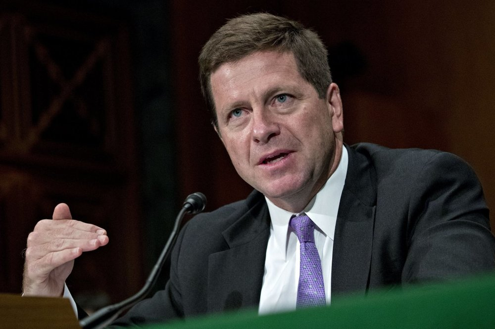"""SEC Chairman Jay Clayton. Will need to see safeguards, like surveillance and custody, to be """"comfortable"""""""