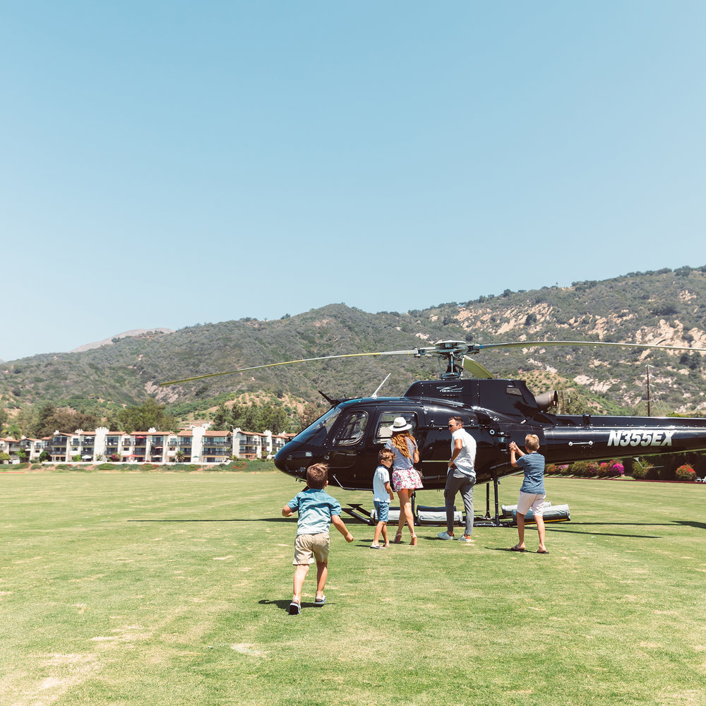 Santa Barbara Polo with Nobleman Magazine and IEX Helicopters