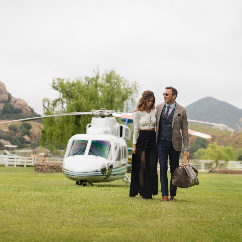 Malibu, California with Nobleman Magazine and IEX Helicopters