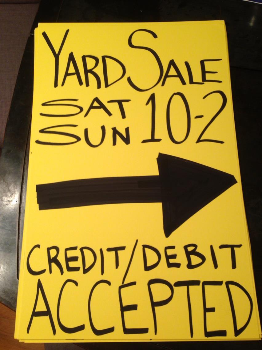 Successful Garage Sale Signs