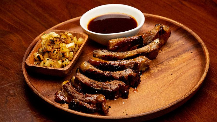 Hibachi Pork Ribs with Pineapple Salsa