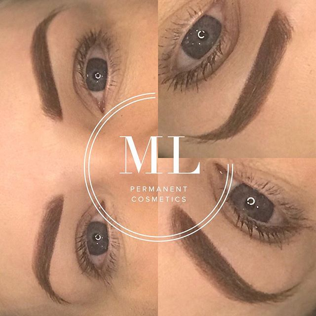 Zoom in of ombré brows, love how soft these look, and even more so when healed. 👏🏻 Ombre/powder brow 👏🏻😍🔥PLEASE NOTE THESE LOOK FULL ON AT FIRST, but will shrink and soften considerably when healed. For more info please visit 👇🏻 https://www.michellelouisepm.com/