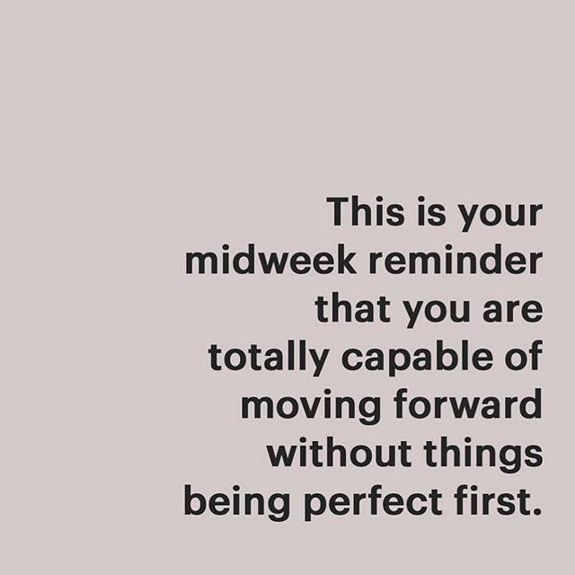 Progress not perfection. Your mid-week reminder. #coaching #goals #liveyourbestlife #progress #progressnotperfection #stepbystep #habitsofhealth