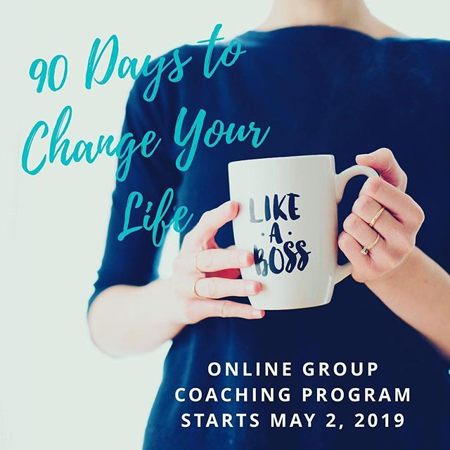 Are you ready to be the Boss of your future?  90 Days to Change Your Life is an online group coaching program that starts 5/2. Enroll by 4/25 and get $200 off.  Learn more and Enroll by clicking link in Bio ☝🏻 #90DaystoChangeYourLife is a signature coaching program that has been developed based on knowledge from over a decade of working with clients who sought big changes for themselves, my own experiences and education, lessons learned from countless teachers and mentors, and from the profound teachings and practices of yoga and mindfulness.  Achieving Goals Made Easy! • This 3-month program is completely virtual (so you can join from anywhere!) and will be a combination of one-on-one calls/video chats, online group sessions, Live Q&A calls, assignments and a closed Facebook Group for ongoing support and inspiration. • We will work together to assess which areas in your life need the most attention for you to feel fulfilled, healthy, and happy and then you will craft a 90-day vision that is purposeful, exciting and action oriented.  #coaching #liveyourbestlife #90dayvision #whywait #goals #makeithappen