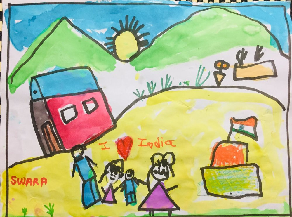 Kids Drawing For 26th January Mmm