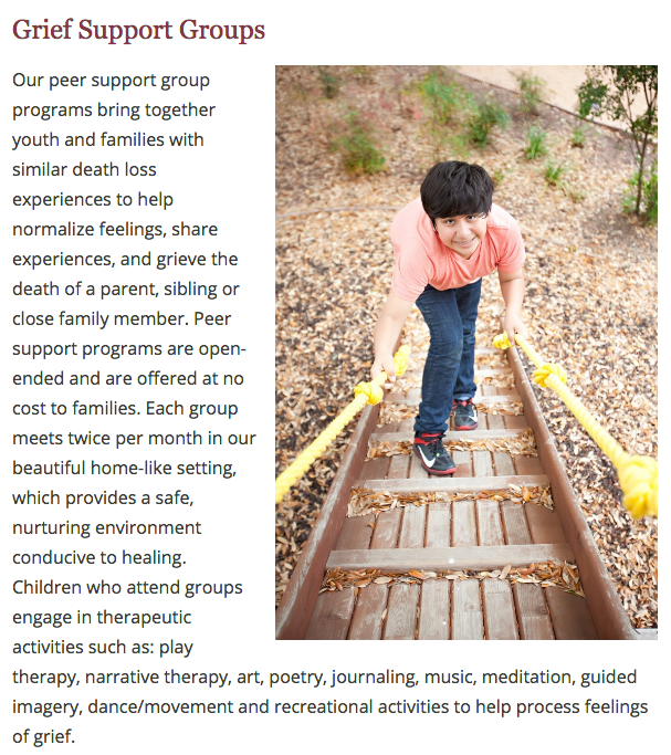 Children's Bereavement Center of South Texas - Support Groups
