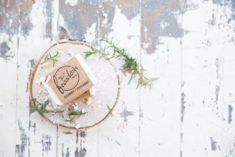Freedom Soap Co.'s Rosemary + Peppermint soap is a top seller during the holiday season.