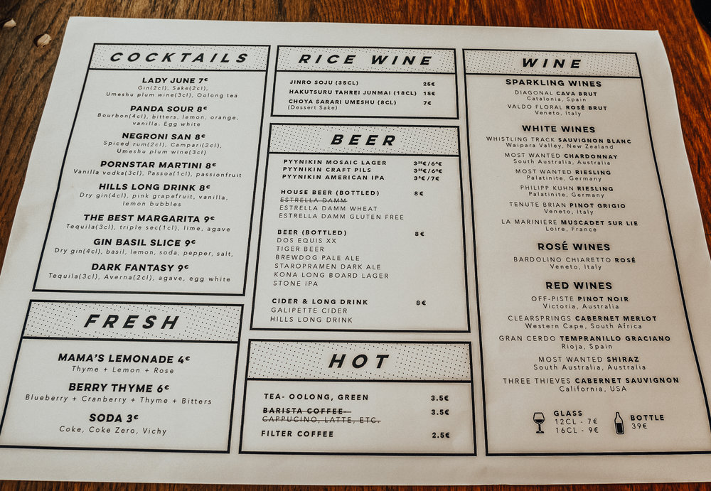 Here you go, I did take a pic of the drink menu. You're welcome