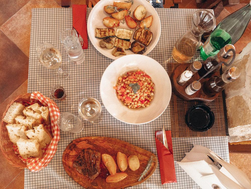 All the dishes we had at Konoba Dubrava