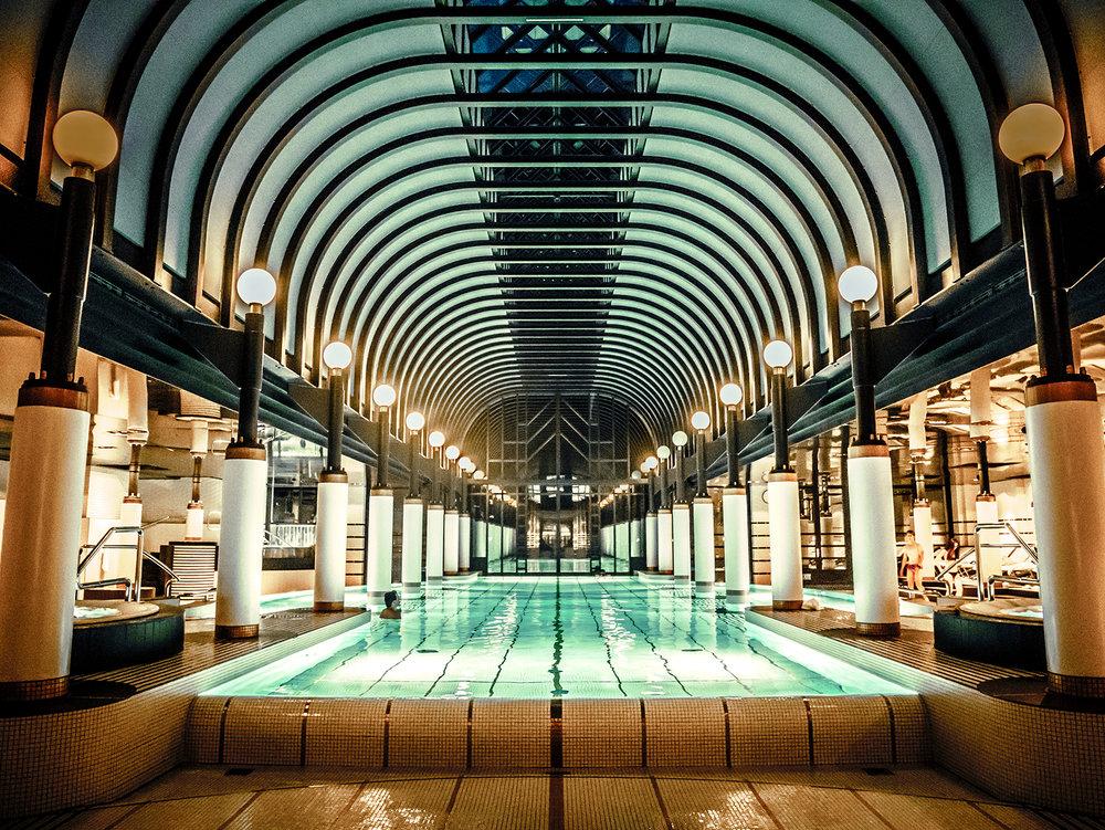 Swimming Pool at Victoria Jungfrau Hotel