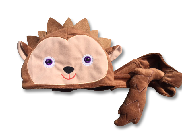 Animal hat and tail - Hedgehog
