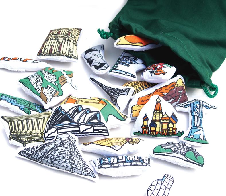 World Map, Landmarks
